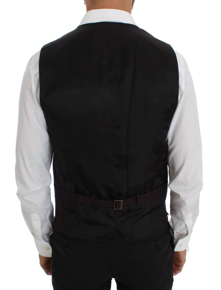 Dolce & Gabbana Purple Wool Blend Formal Vest