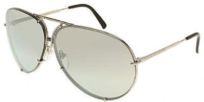 Porsche Avaitor metal Unisex Sunglasses Titanium / Silver Mirrored