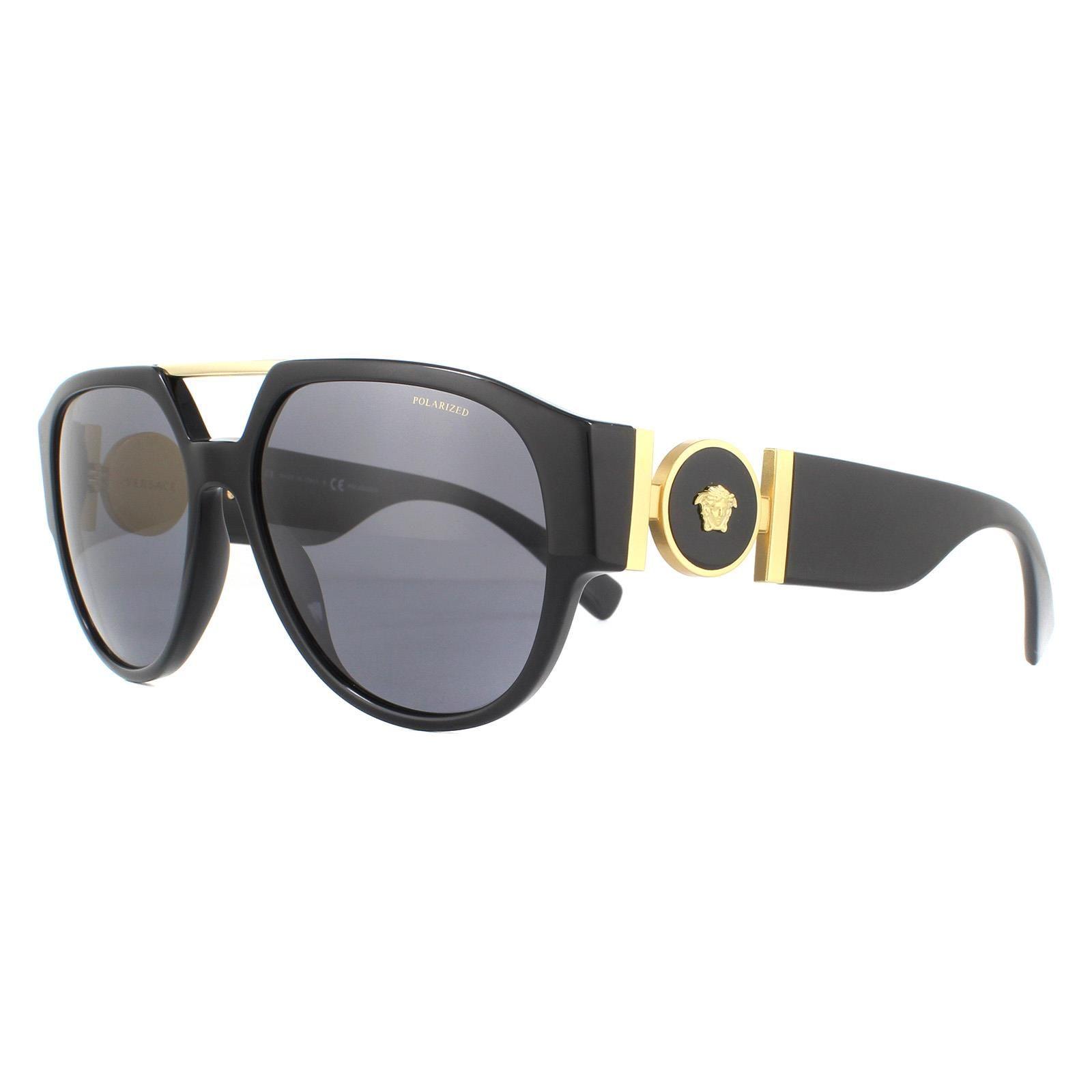 Versace Sunglasses VE4371 GB1/81 Black Dark Grey Polarized
