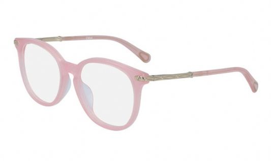 Chloe Round plastic Unisex Eyeglasses Pink / Clear Lens