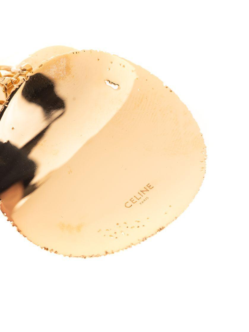 CÉLINE WOMEN'S 46T296BRA35OR GOLD METAL EARRINGS