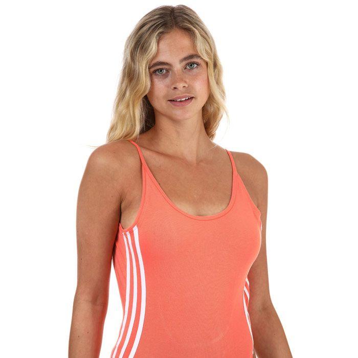 Women's adidas Originals Cotton Bodysuit In Coral