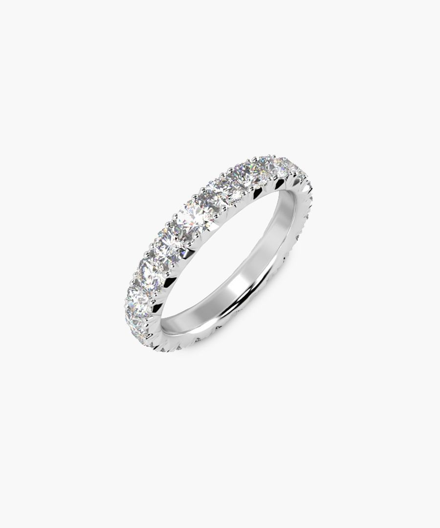 2.00ct diamond and platinum eternity ring