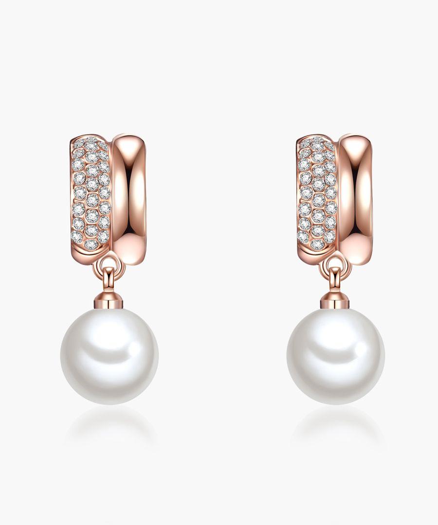 Perldesse white pearl earrings