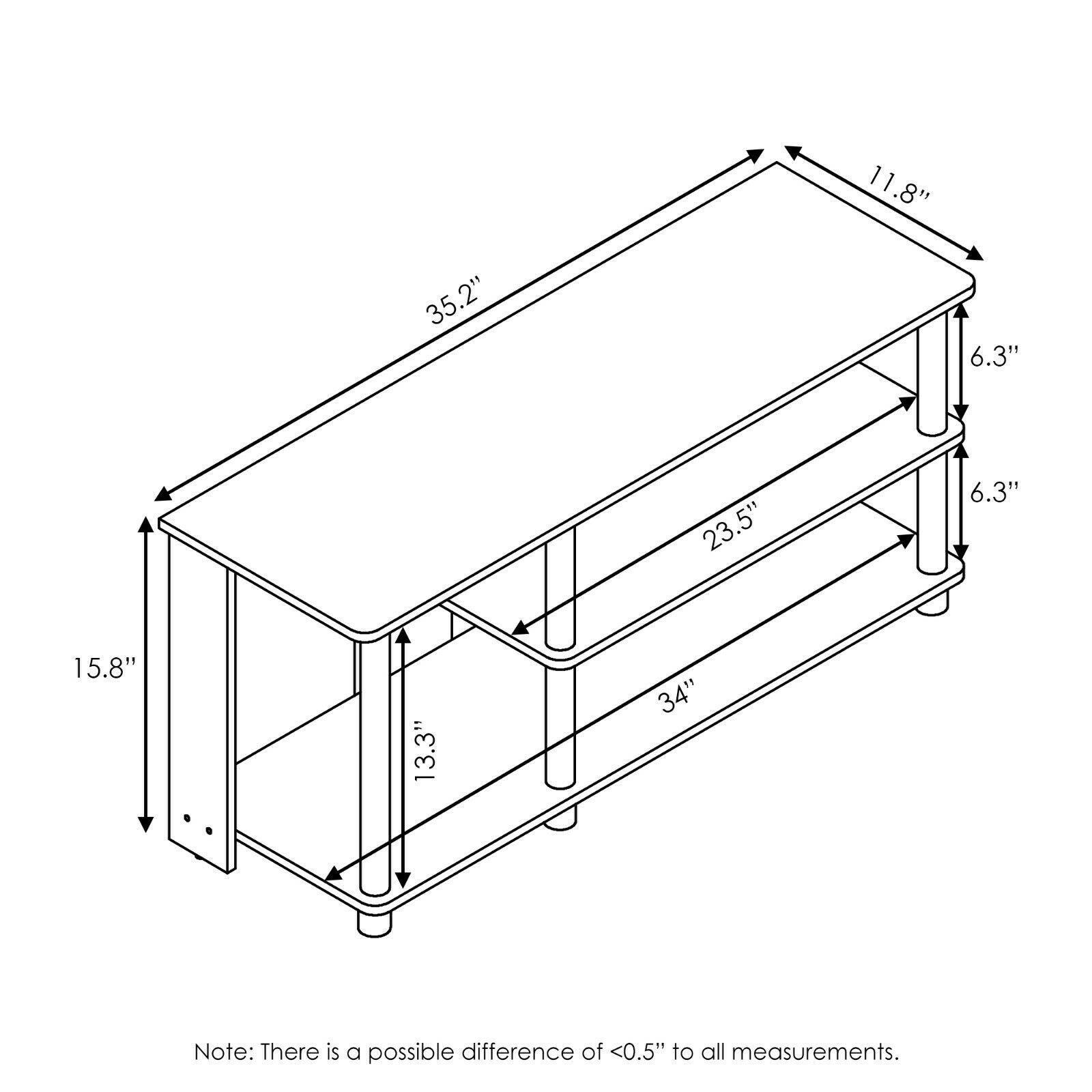 Furinno Turn-N-Tube Compact Multi Storage Shoe Rack, French Oak Grey/Black