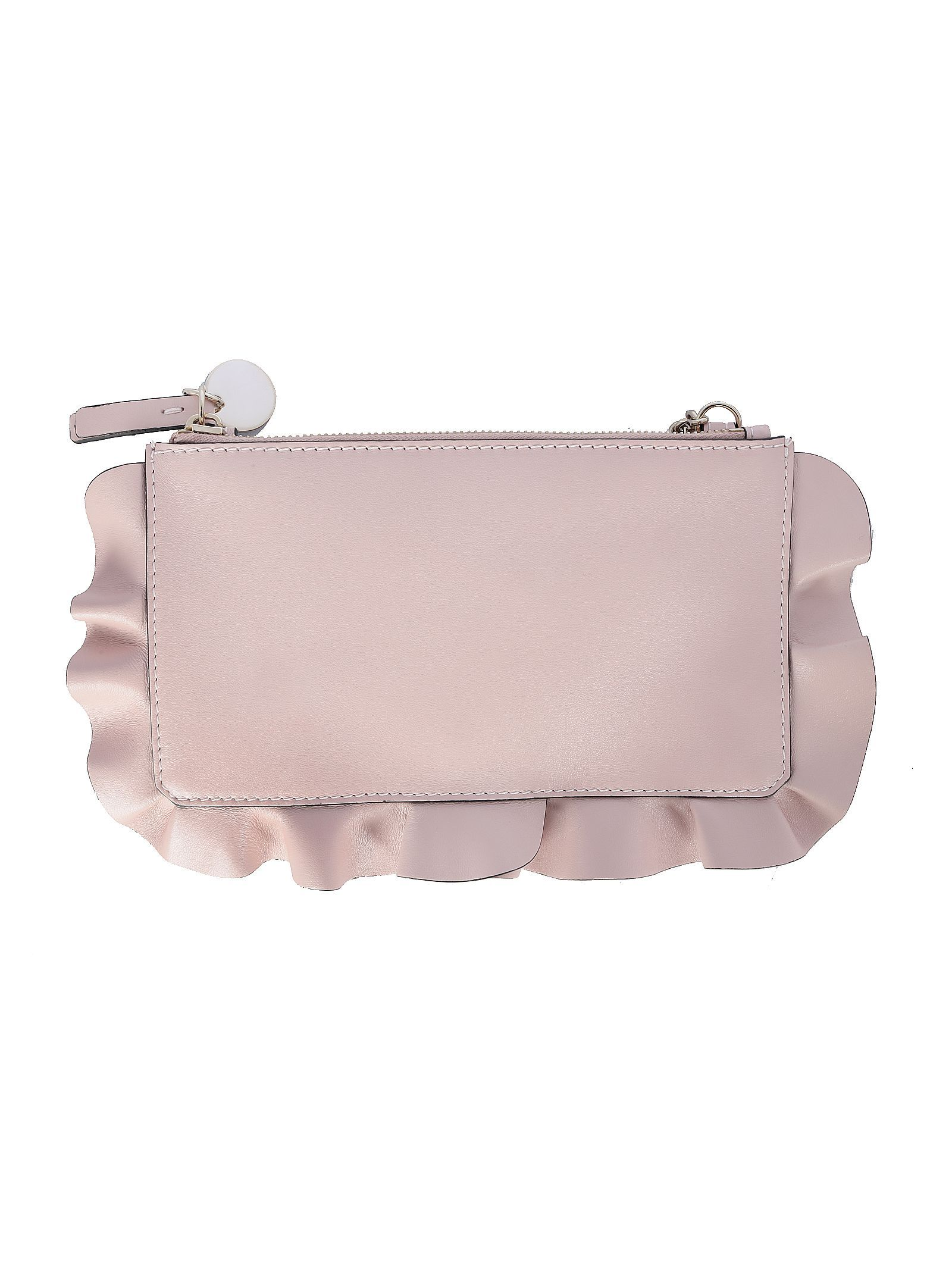 RED VALENTINO WOMEN'S TQ0P0A52MENN17 PINK LEATHER POUCH