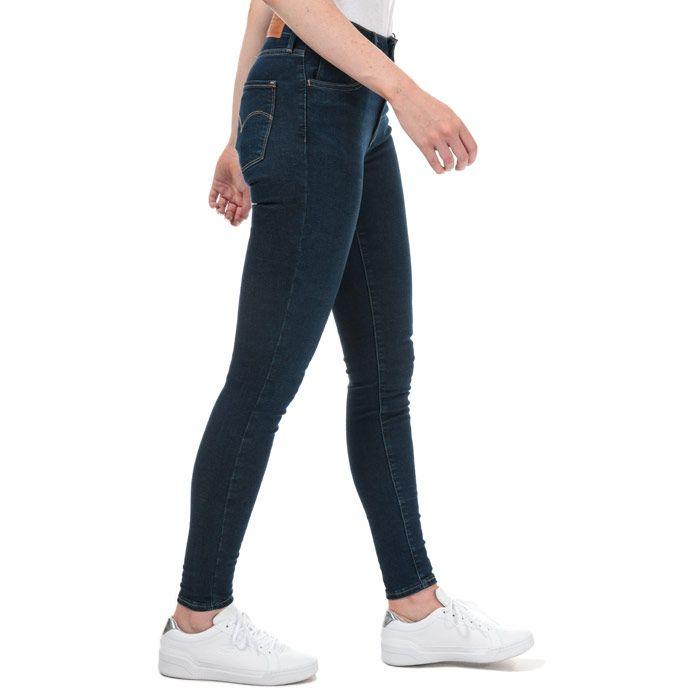 Women's Levis 720 High Rise Super Skinny Jeans in Dark Blue