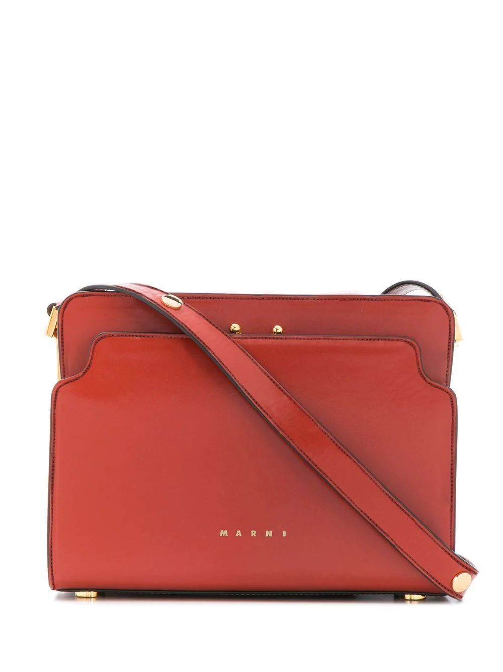 MARNI WOMEN'S SBMP0024Y0P2991Z275M RED LEATHER SHOULDER BAG