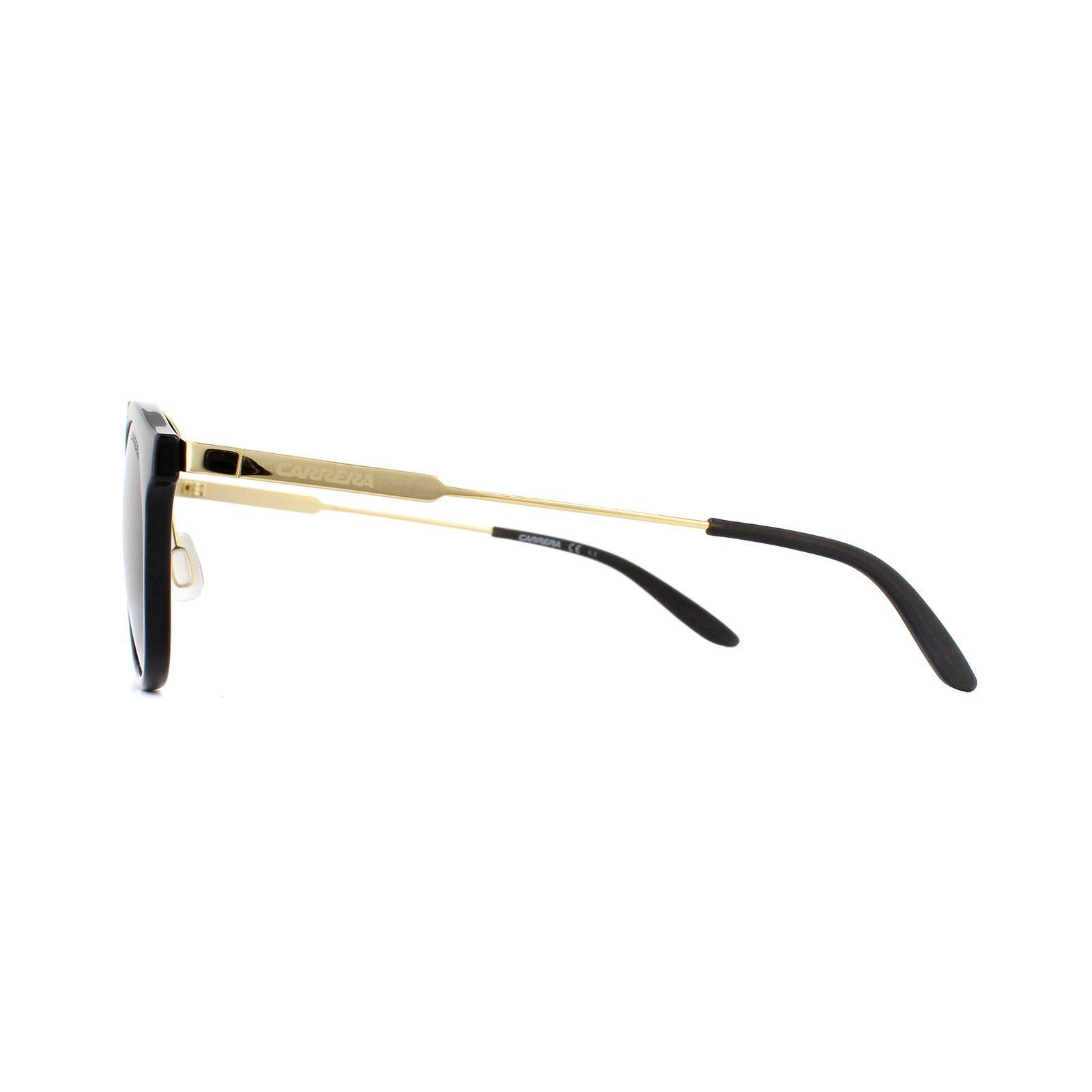 Carrera Sunglasses 126/S 6UB NR Shiny Black Gold Brown Grey