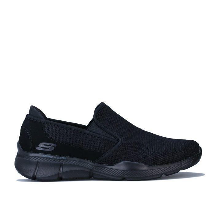 Men's Skechers Equaliser 3.0 Summin Slip on Trainer in Black