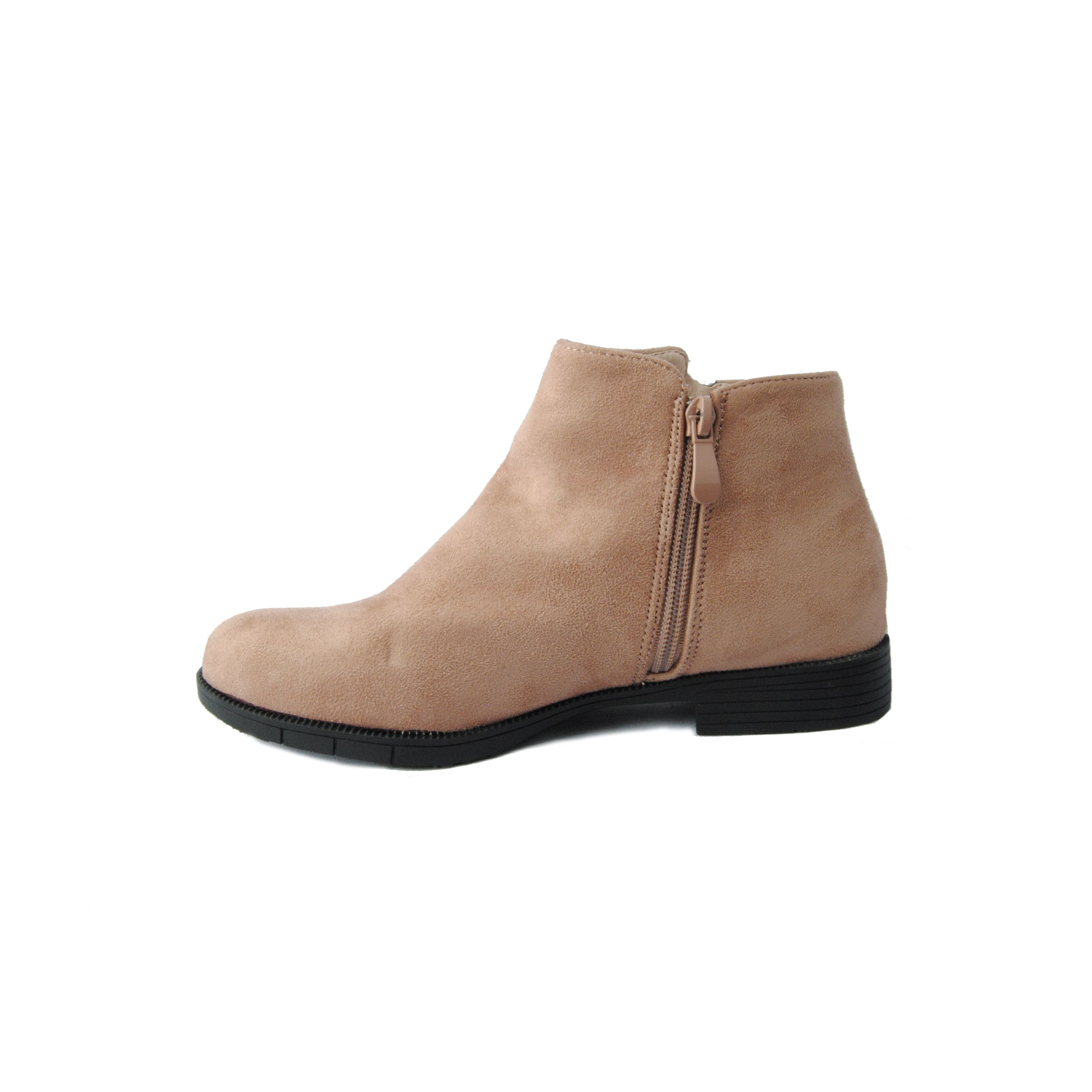 Montevita Flat Ankle Boot in Pink