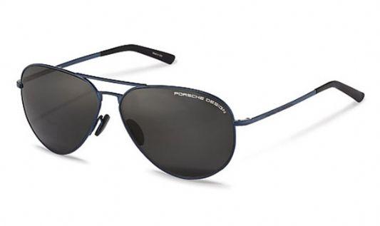 Porsche Avaitor metal Unisex Sunglasses Grey / Blue