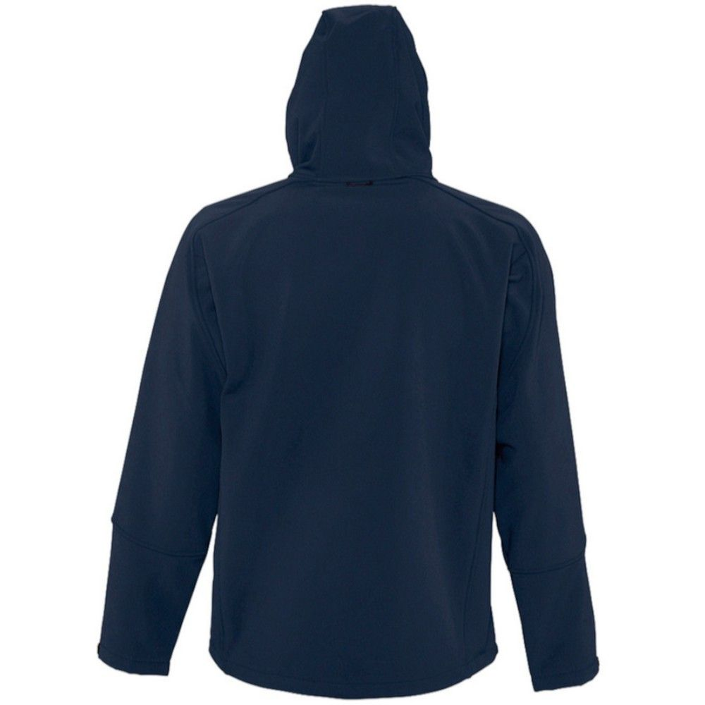 SOLS Mens Replay Hooded Soft Shell Jacket (Breathable, Windproof And Water Resistant) (French Navy)