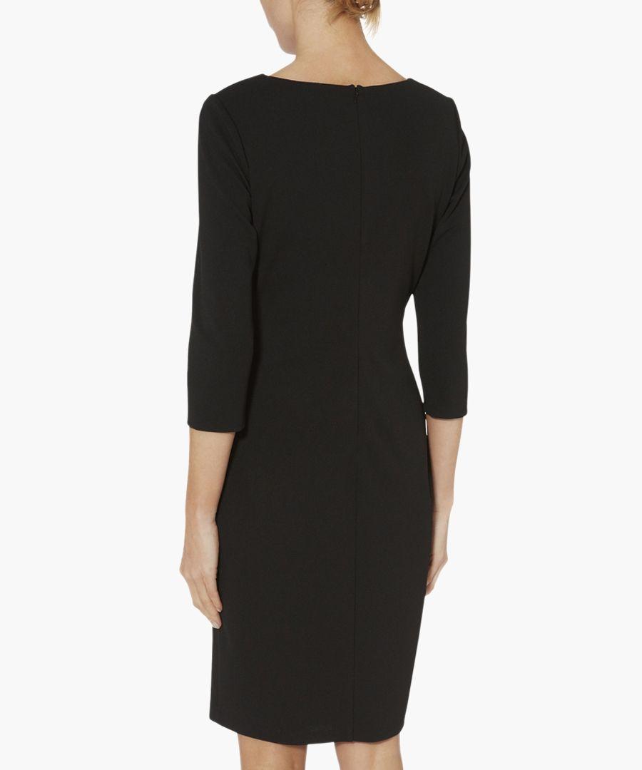 Black dafne scuba crepe dress