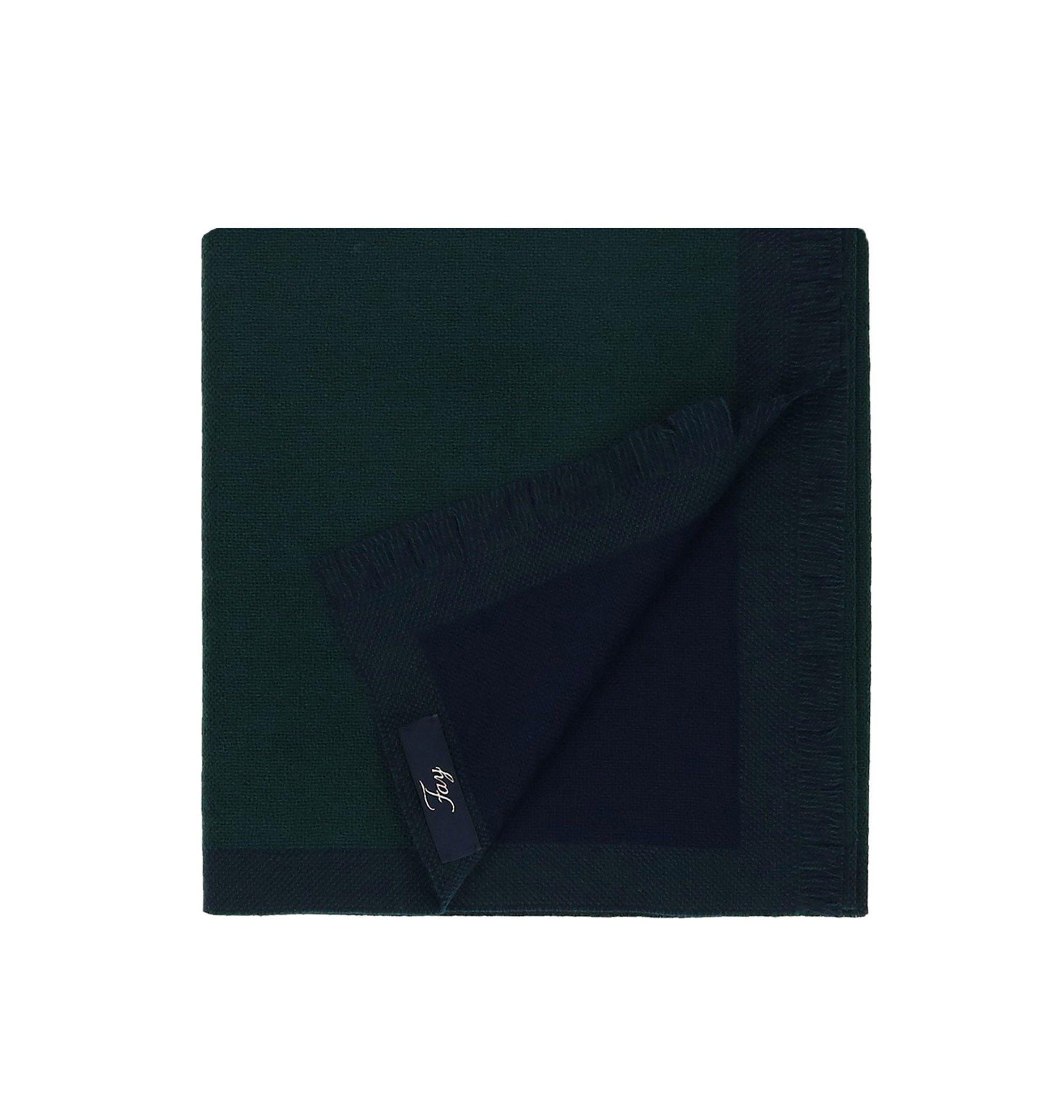 FAY MEN'S NSMF2392960HFR0G57 GREEN WOOL SCARF