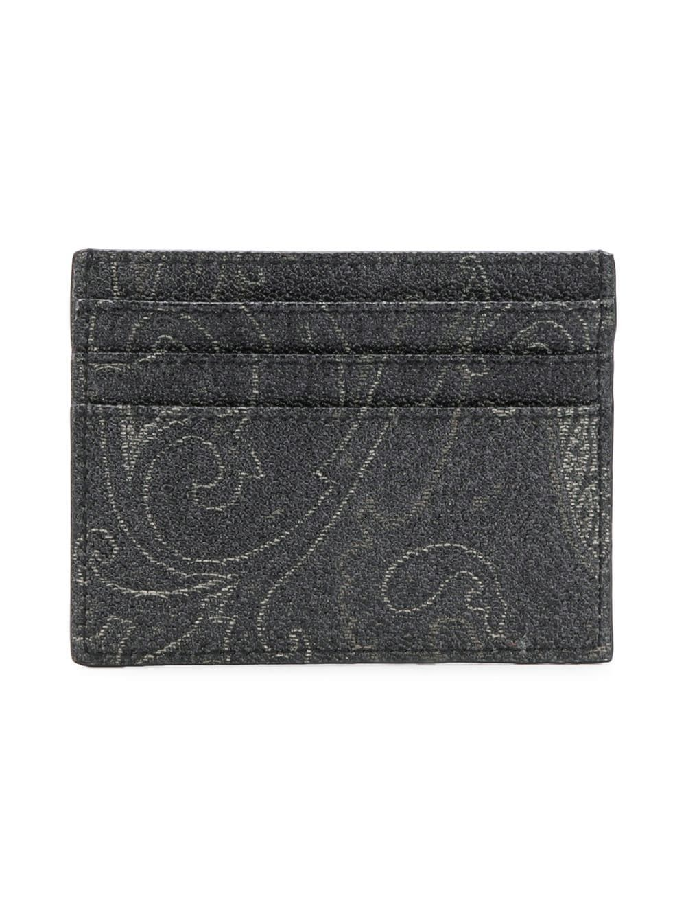 ETRO MEN'S 0H7698007001 GREY LEATHER CARD HOLDER