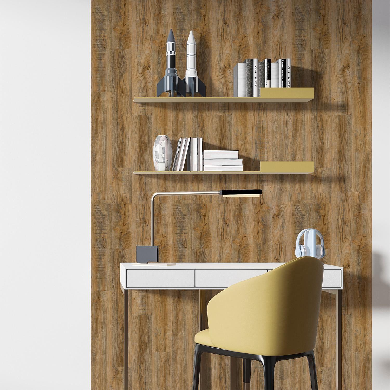Vintage Brown Wood Look Planks Reclaimed Oak 3d wall ...