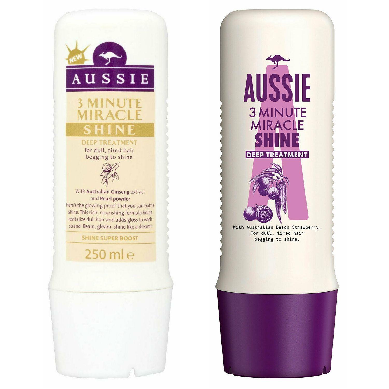 Aussie 3 Minute Miracle Conditioner 250ml & Aussie 3 Minute Miracle Shine 250ml