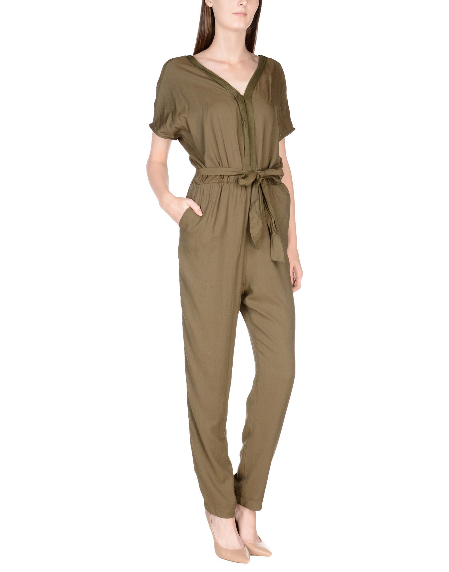 Sessun Military Green Belted Jumpsuit