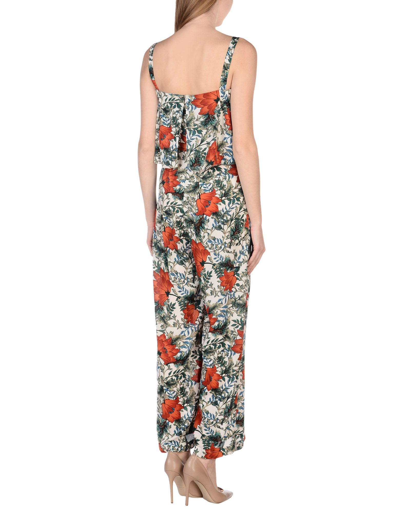 Imperial White Floral Print Jumpsuit