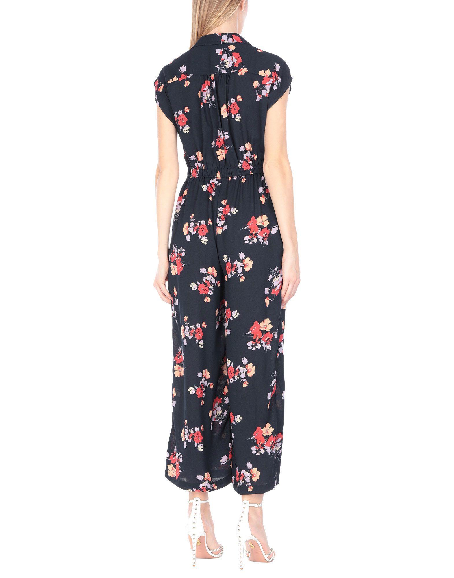 Vero Moda Dark Blue Floral Design Jumpsuit