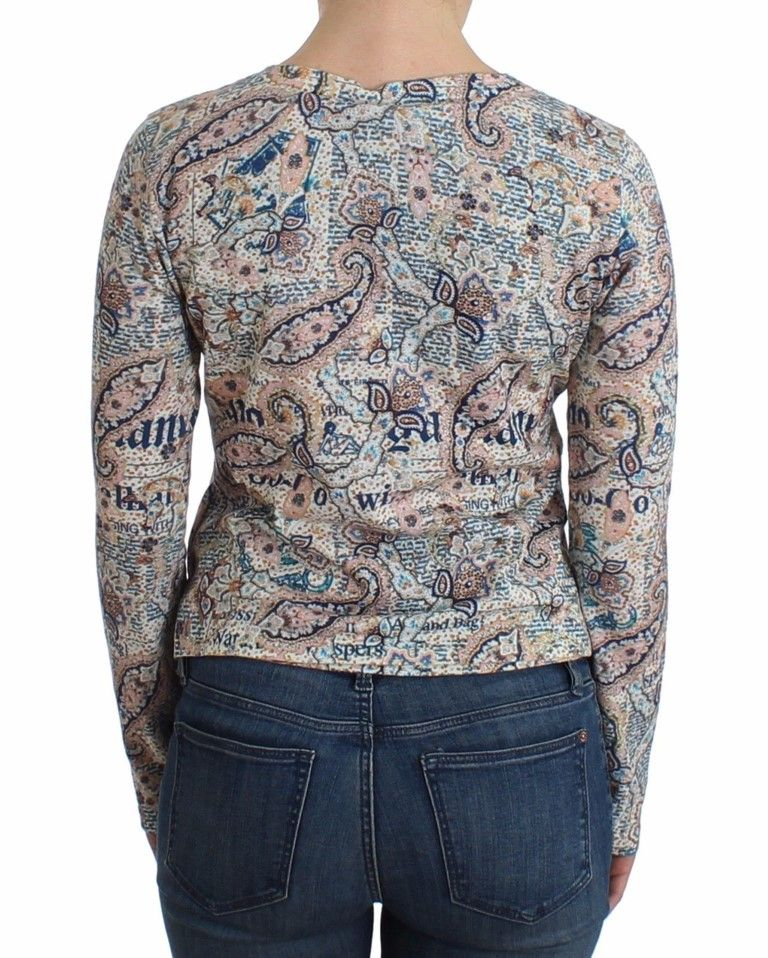 Galliano Paisley printed knit tank top