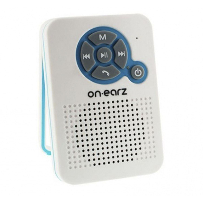 On Earz Wireless Bluetooth Bathroom Speaker with Integrated Radio