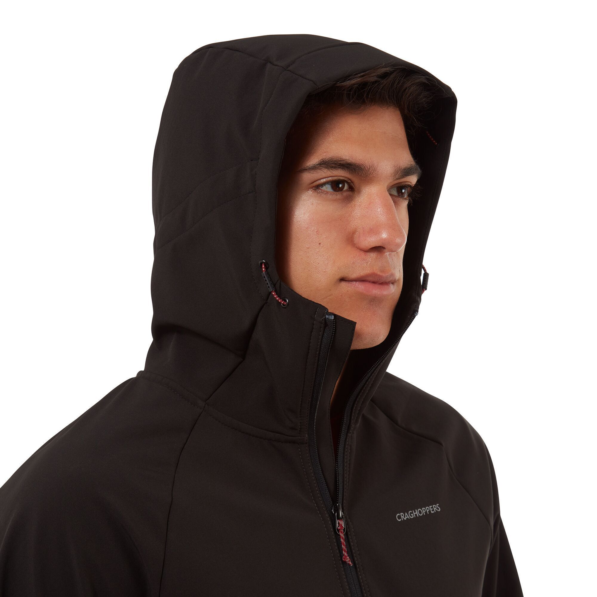 Craghoppers Mens Trent Hooded Jacket (Black/Black Pepper)
