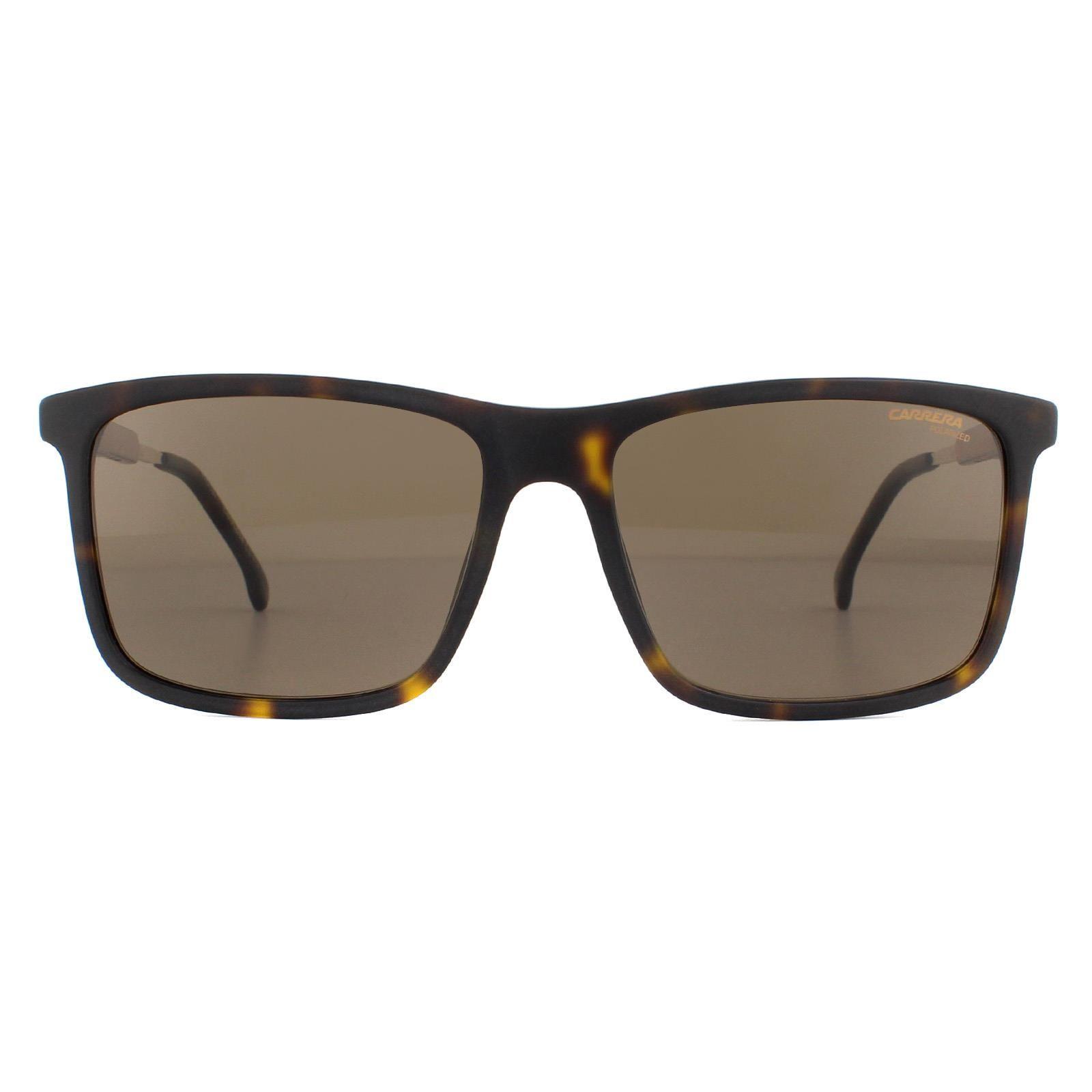 Carrera Sunglasses 8029/S 086 SP Dark Havana Bronze Polarized