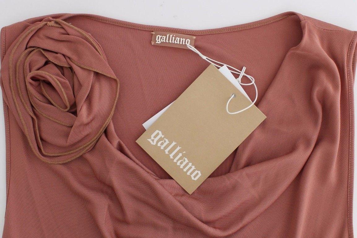 Galliano Pink top sleeveless blouse