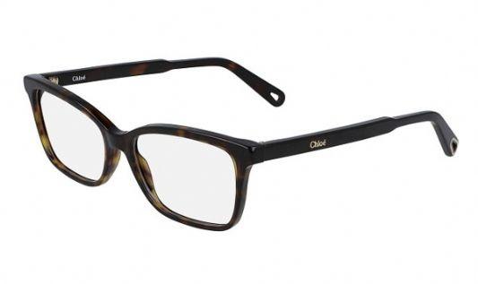 Chloe Rectangular plastic Unisex Eyeglasses Tortoise / Clear Lens