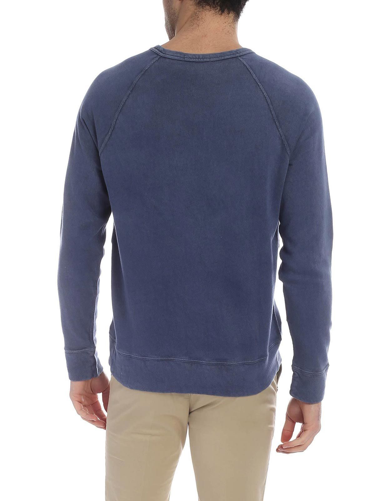 RALPH LAUREN MEN'S 710644952017 BLUE COTTON SWEATSHIRT