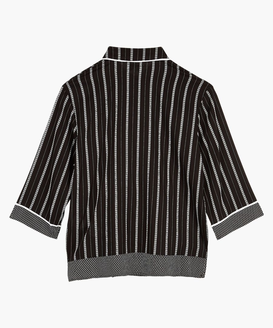 Black and white striped pyjama top