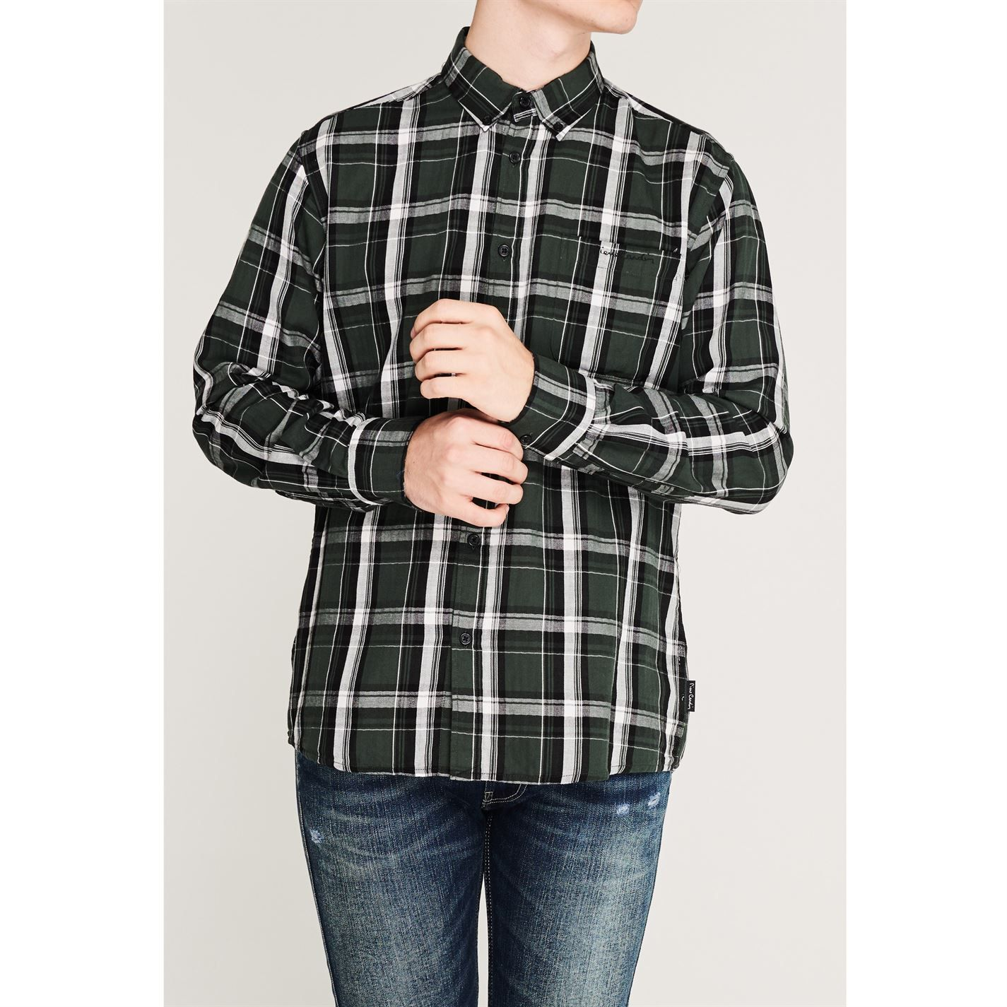 Pierre Cardin Mens Long Sleeve Twill Shirt Regular Fit