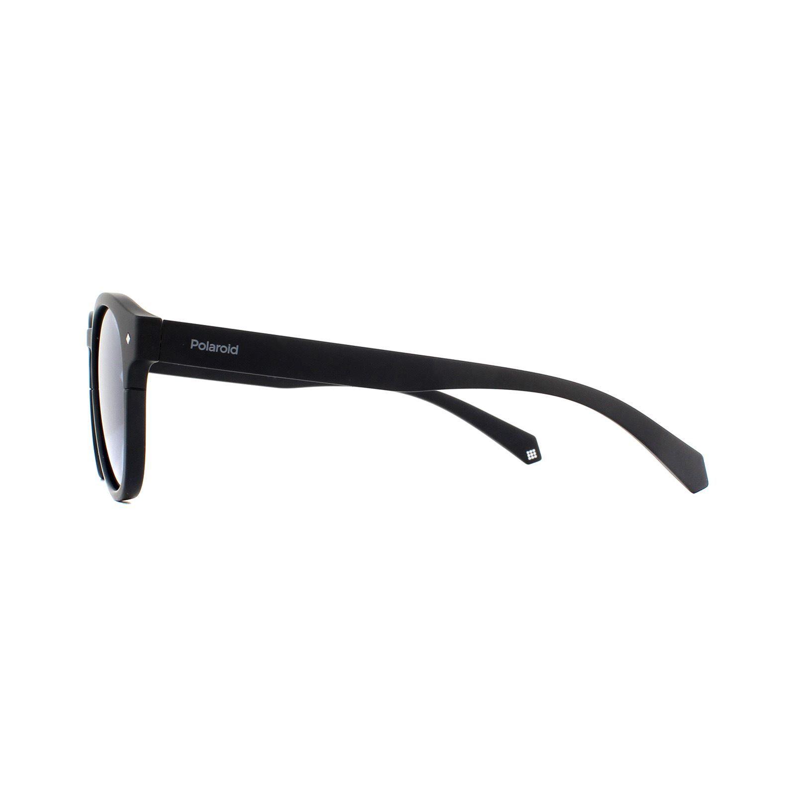 Polaroid Sunglasses 6042/S 003 C3 Matte Black Blue Polarized