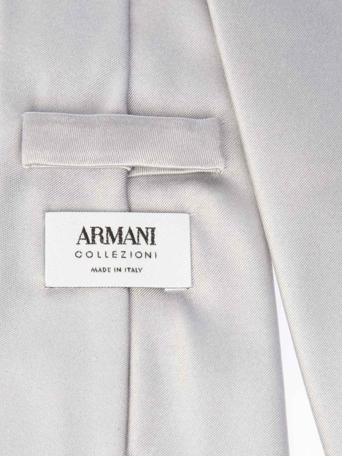 ARMANI COLLEZIONI MEN'S 350027LA49800017 GREY SILK TIE
