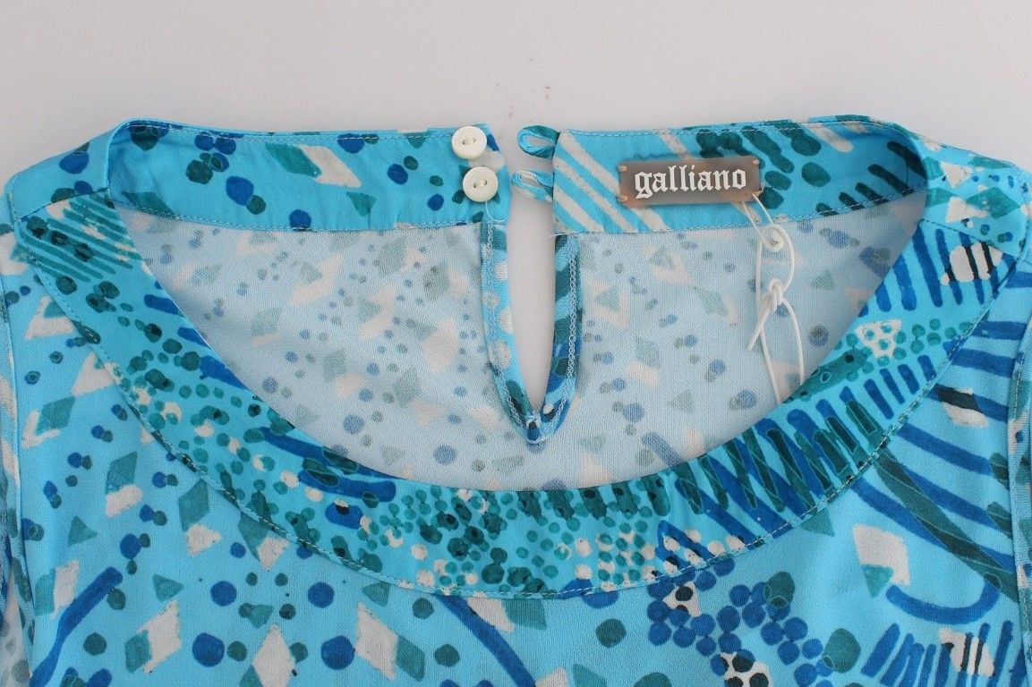 Galliano Blue printed tank top