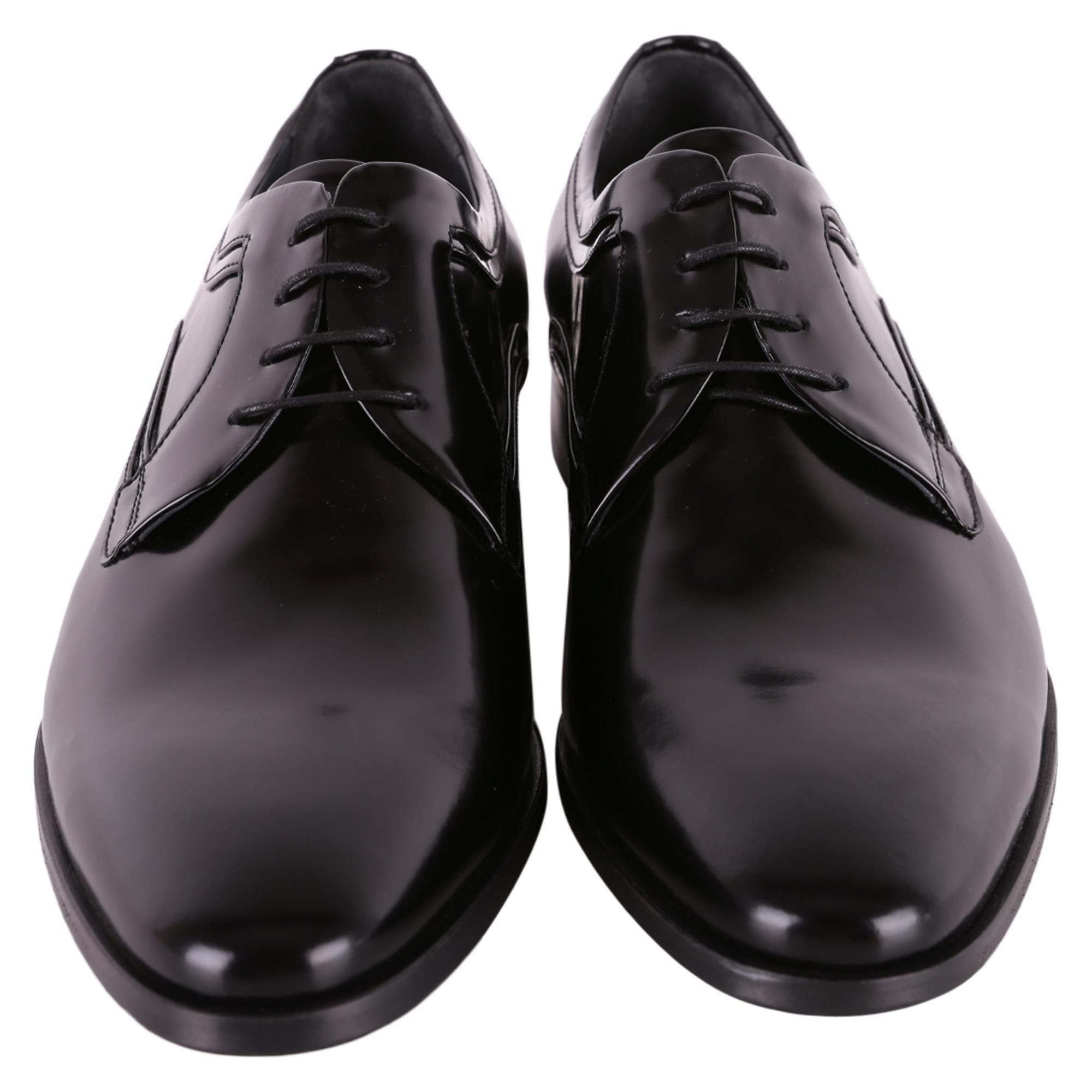 CARLO PIGNATELLI MEN'S 36Z0144GIOVE10NERO BLACK LEATHER LACE-UP SHOES
