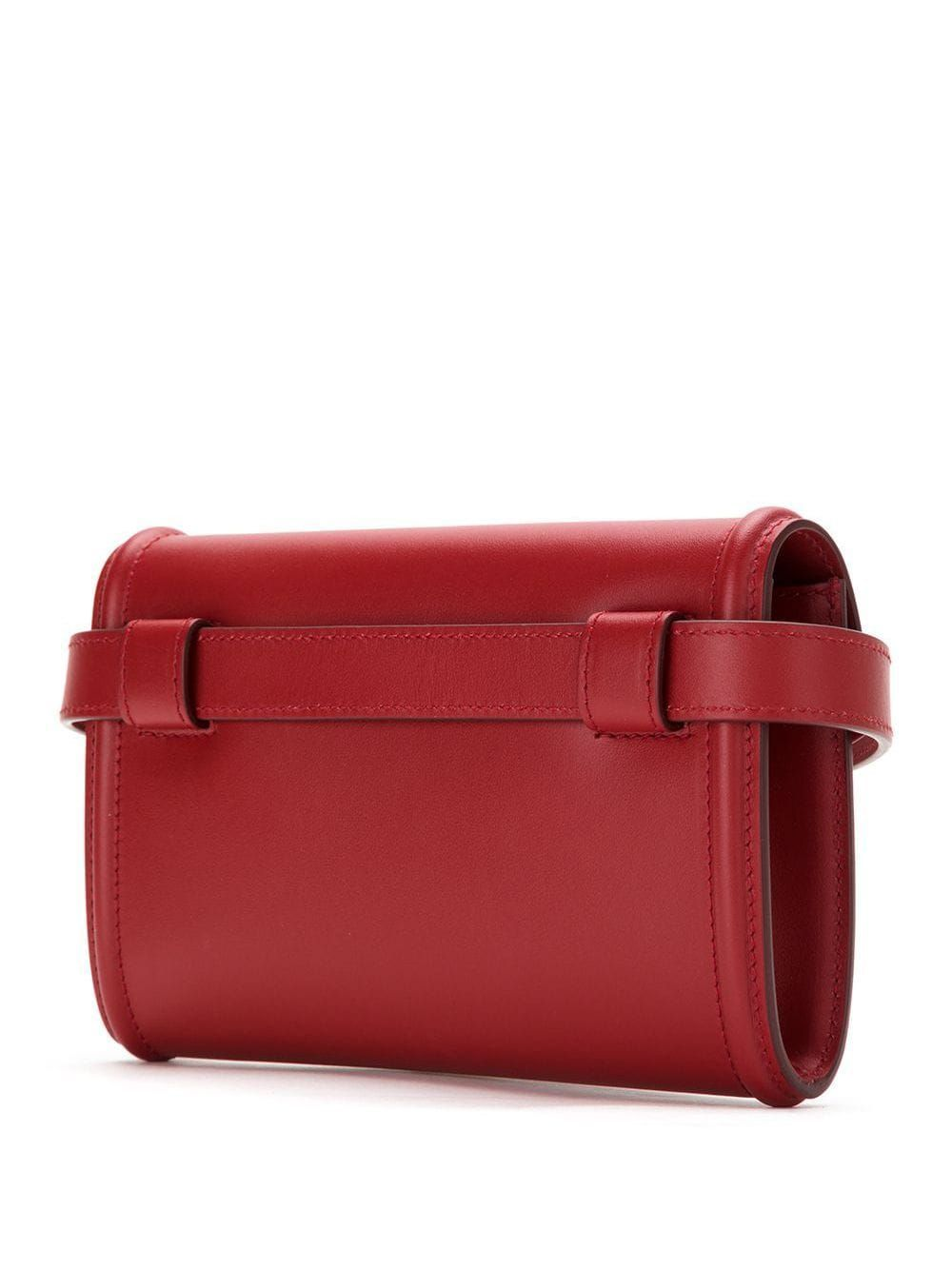 DOLCE E GABBANA WOMEN'S BB6706AV89387124 RED LEATHER BELT BAG