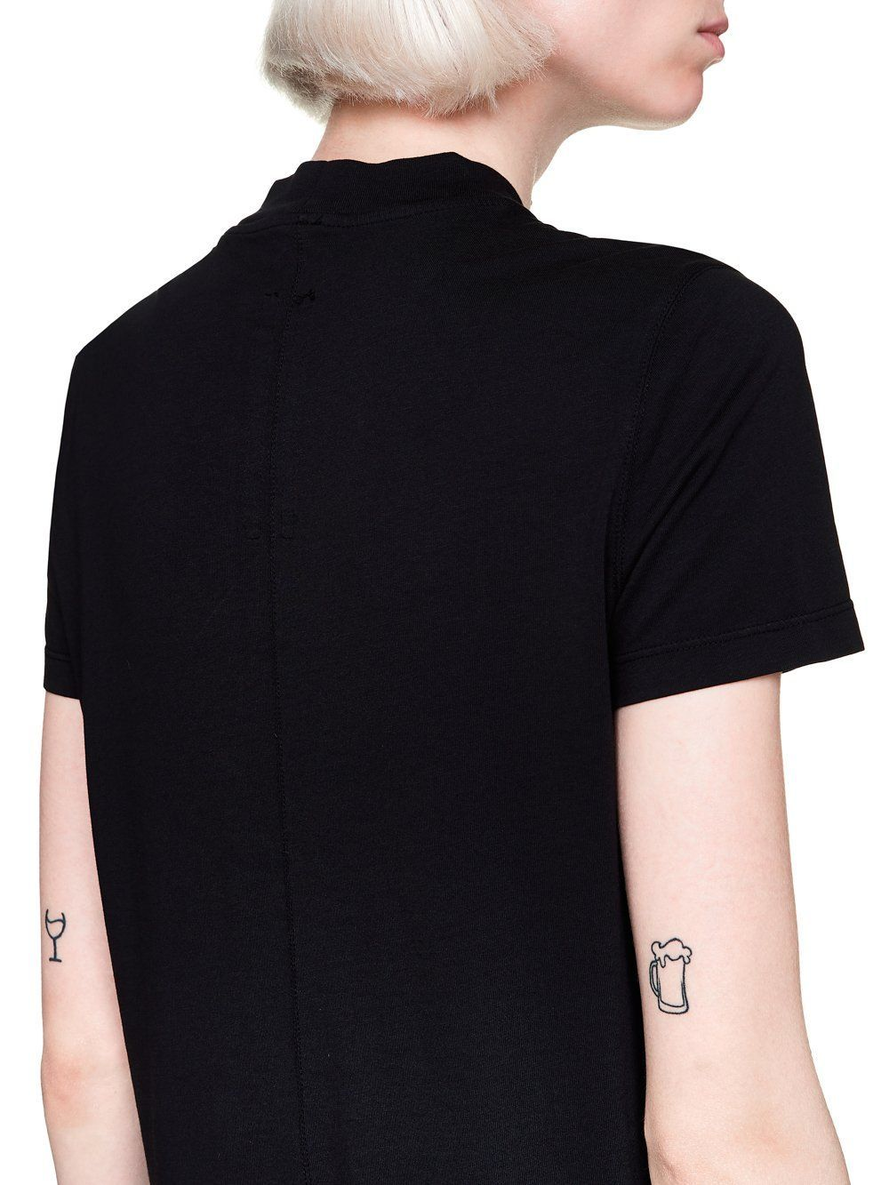 DRKSHDW BY RICK OWENS WOMEN'S DS19F6205RNEP30921 BLACK COTTON T-SHIRT