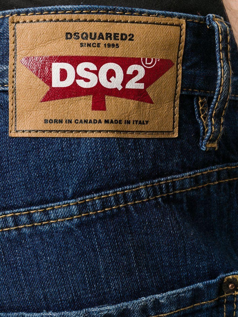 DSQUARED2 MEN'S S71LB0650S30309470 BLUE COTTON JEANS