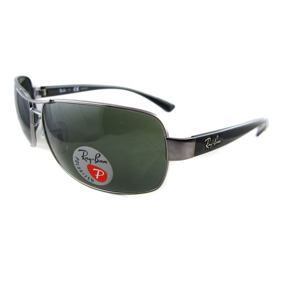 Ray-Ban Sunglasses 3379 004/58 Gunmetal Green Polarized