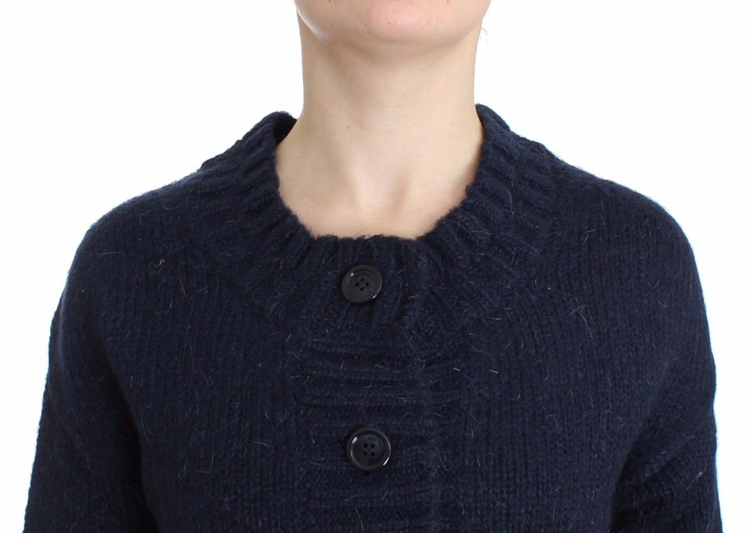 Galliano Blue cropped cardigan