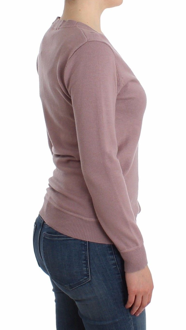 Galliano Purple v-neck wool cardigan