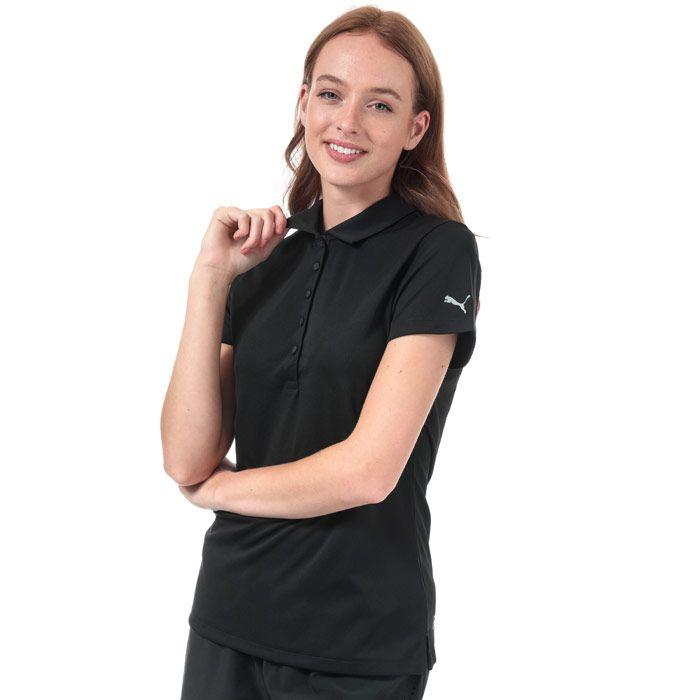 Women's Puma Pounce Polo Shirt in Black