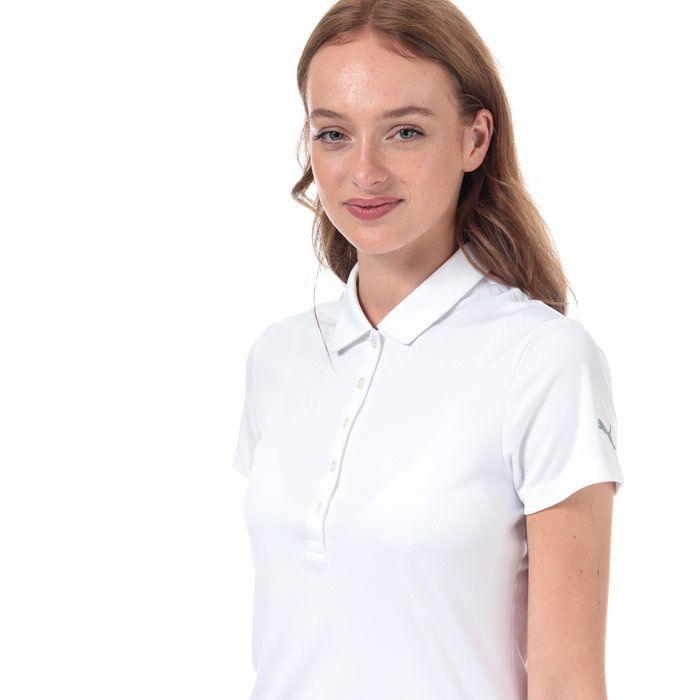 Women's Puma Pounce Polo Shirt in White