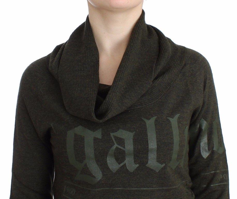 Galliano Green wwol turtleneck sweater