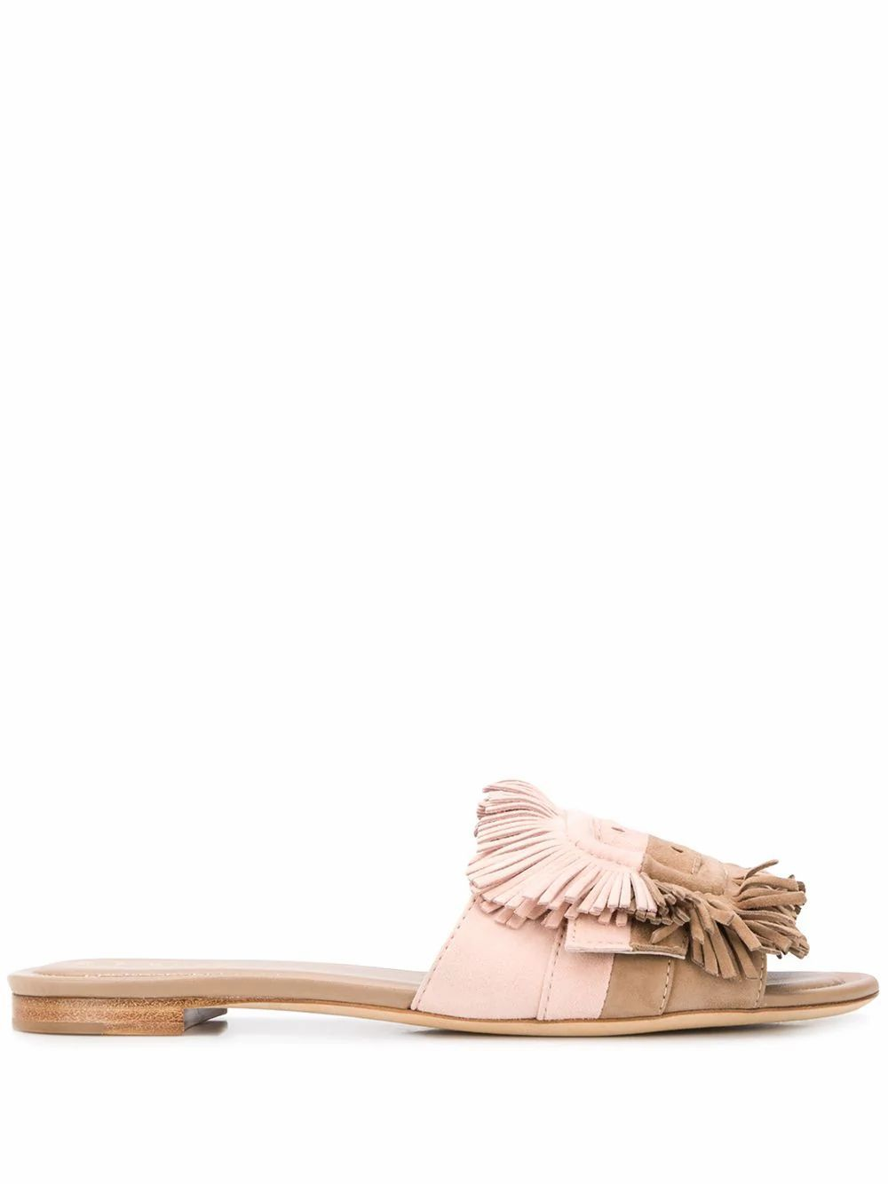 TOD'S WOMEN'S XXW37B0CP00HR00MZG PINK LEATHER SANDALS