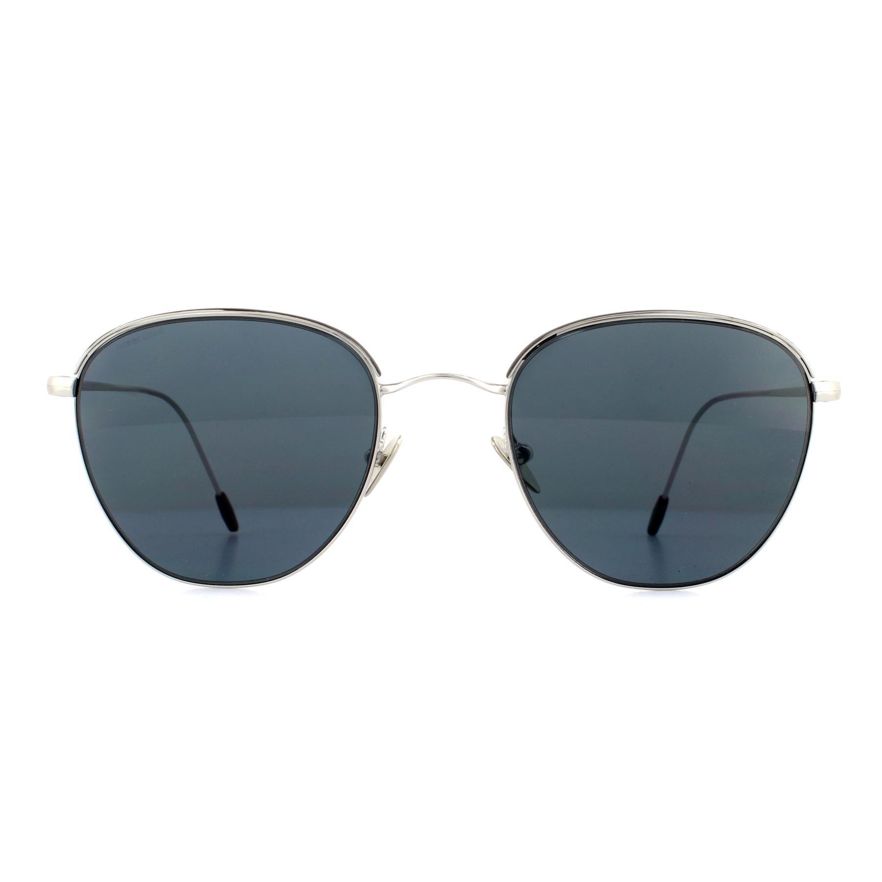 Giorgio Armani Sunglasses AR6048 301587 Silver and Matte Black Grey