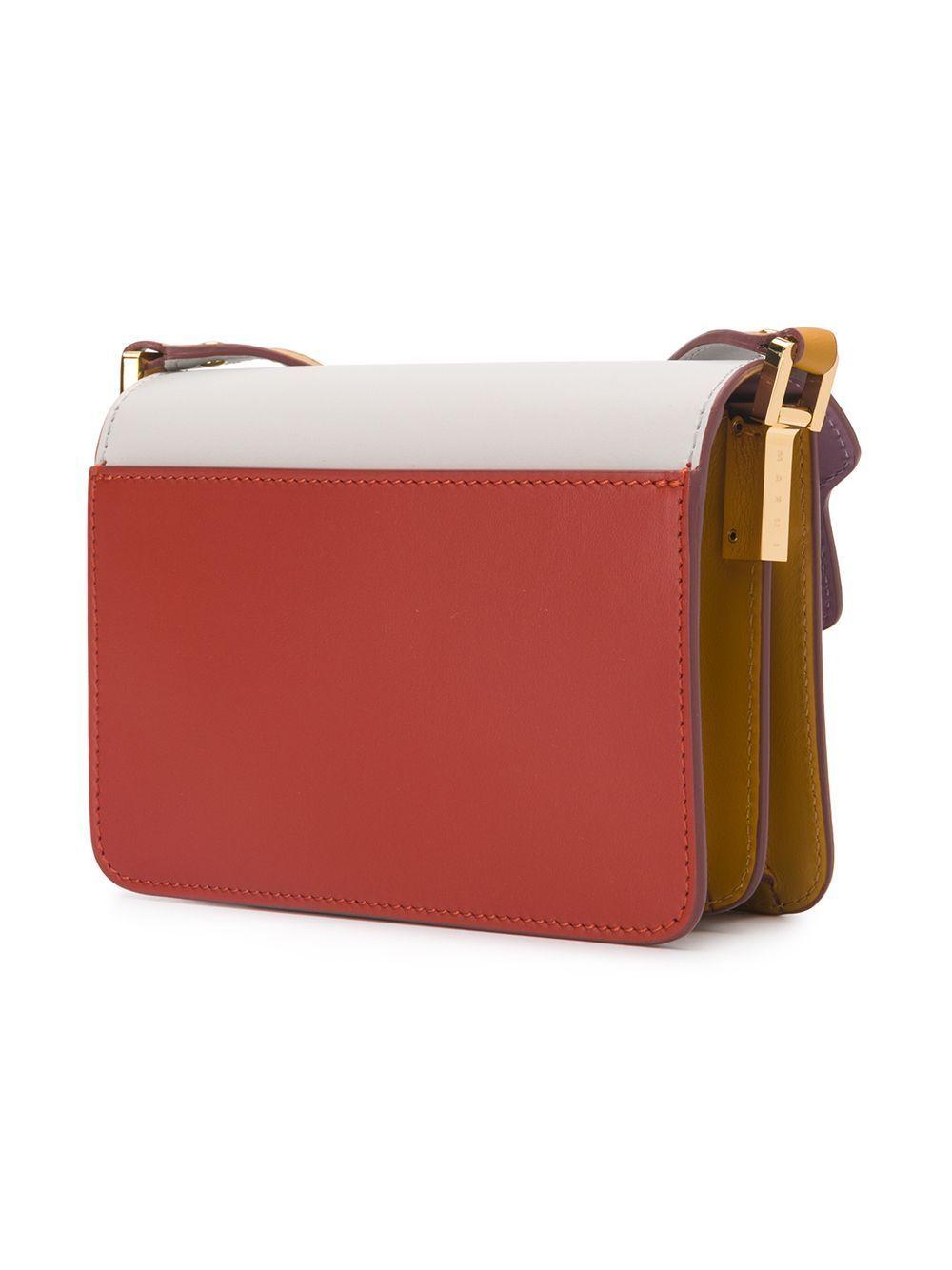 MARNI WOMEN'S SBMPS01U29LV589Z176O RED LEATHER SHOULDER BAG